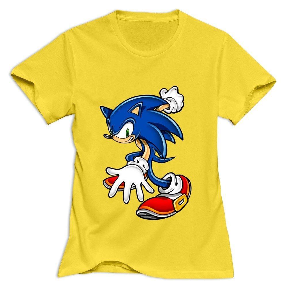 Amazon Com Yisw Women Sonic Hedgehog T Shirt S Yellow Unique Design T Shirts 6983617740474 Books