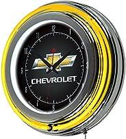 Trademark Global Chevy Neon Clock, 14-Inch Diameter