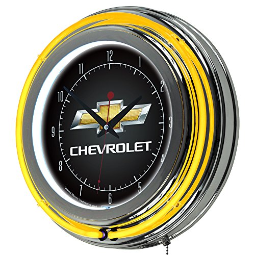 Chevrolet Chrome Double Ring Neon Clock, 14