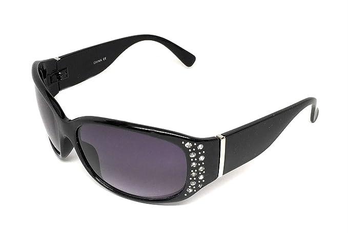 71515eb20b8a My Shades - Women s Sunglasses Designer Inspired Fashion Rhinestone Style  Embellishments Wrap Around (Black