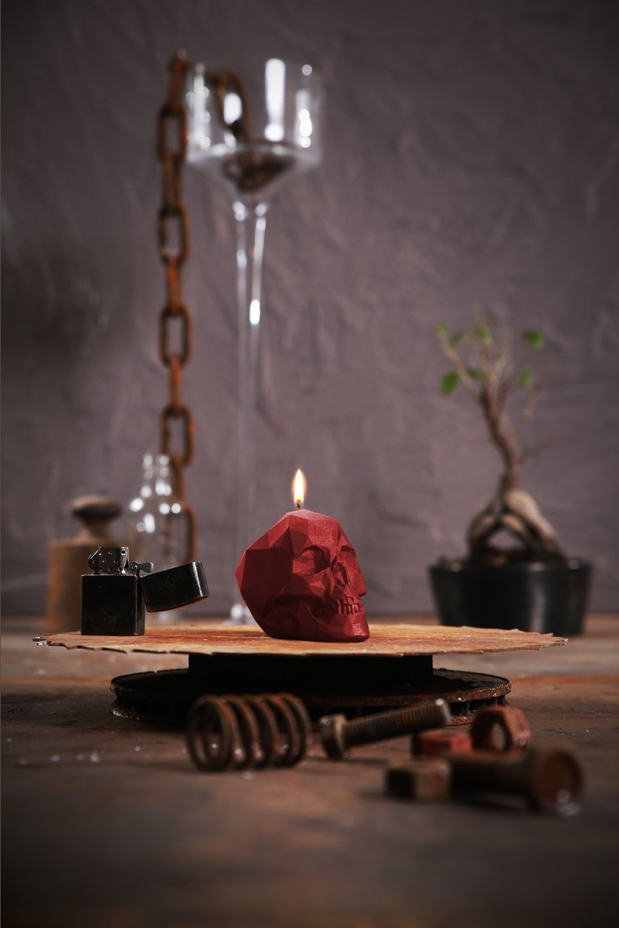 Candellana Candles Small Skull, Red 5902841362505