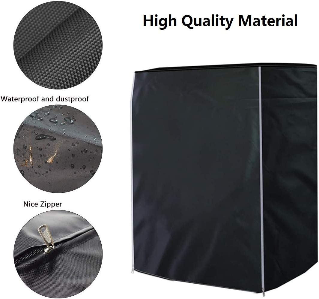ELR Washing Machine Cover Sunscreen Dustproof Waterproof Washer Covers Front-Loading Washer//Dryer Cover Protection for Home Laundry XXL: 69x82x98cm//27x32x38.2in