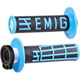 Odi Emig V2 Lock On Grips With Cam And Throttle Tube For 4 Stroke Engines Black / Neon Blue