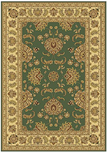 Amazon Com Silk Green Persian Rug Traditional Pattern