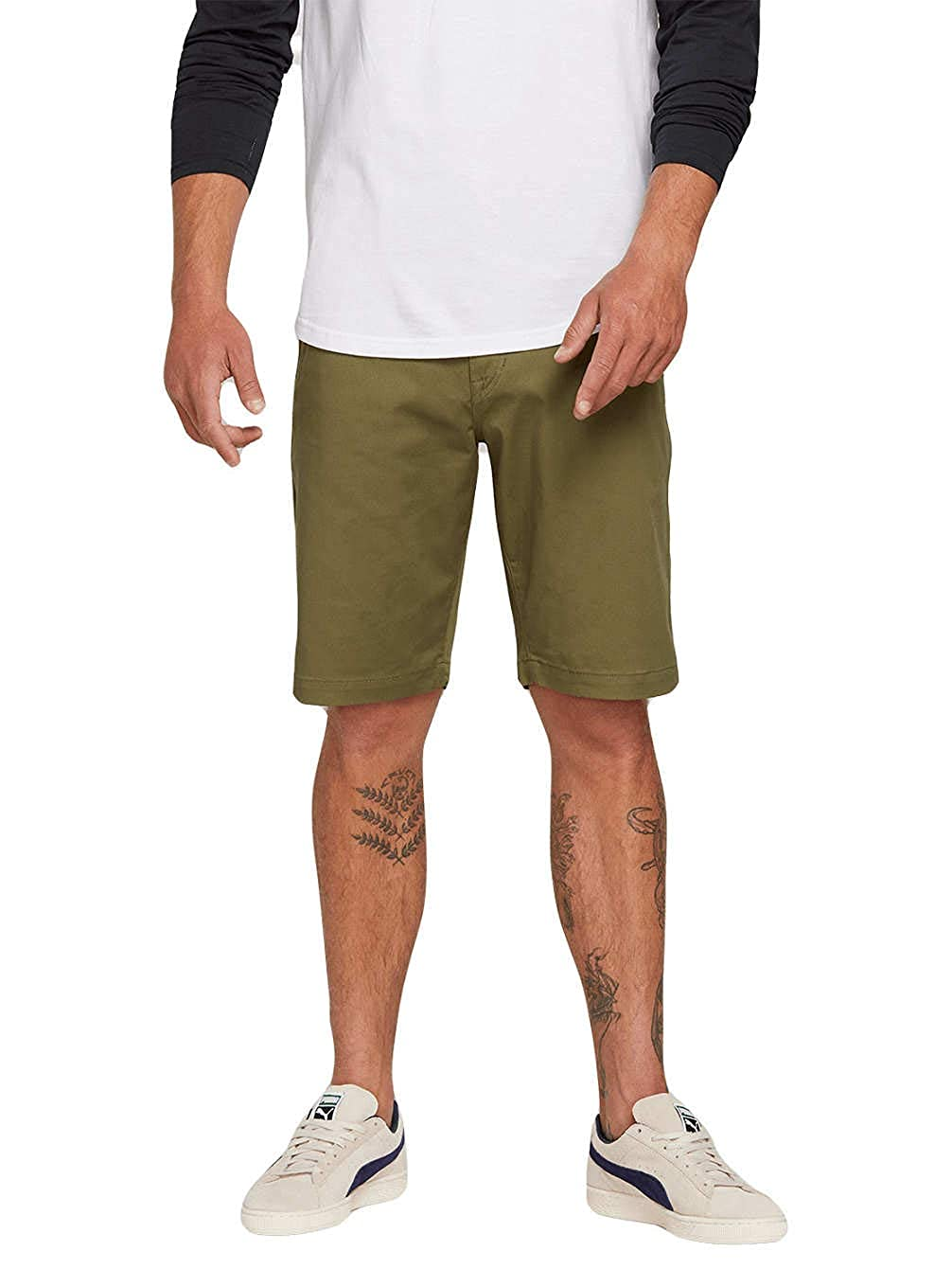 Army FR   M (Taille Fabricant   32) Volcom Frickin Modern - courte - Homme