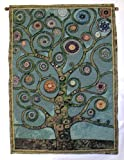 Green Mandala Tree of Life Tapestry Wall Hanging