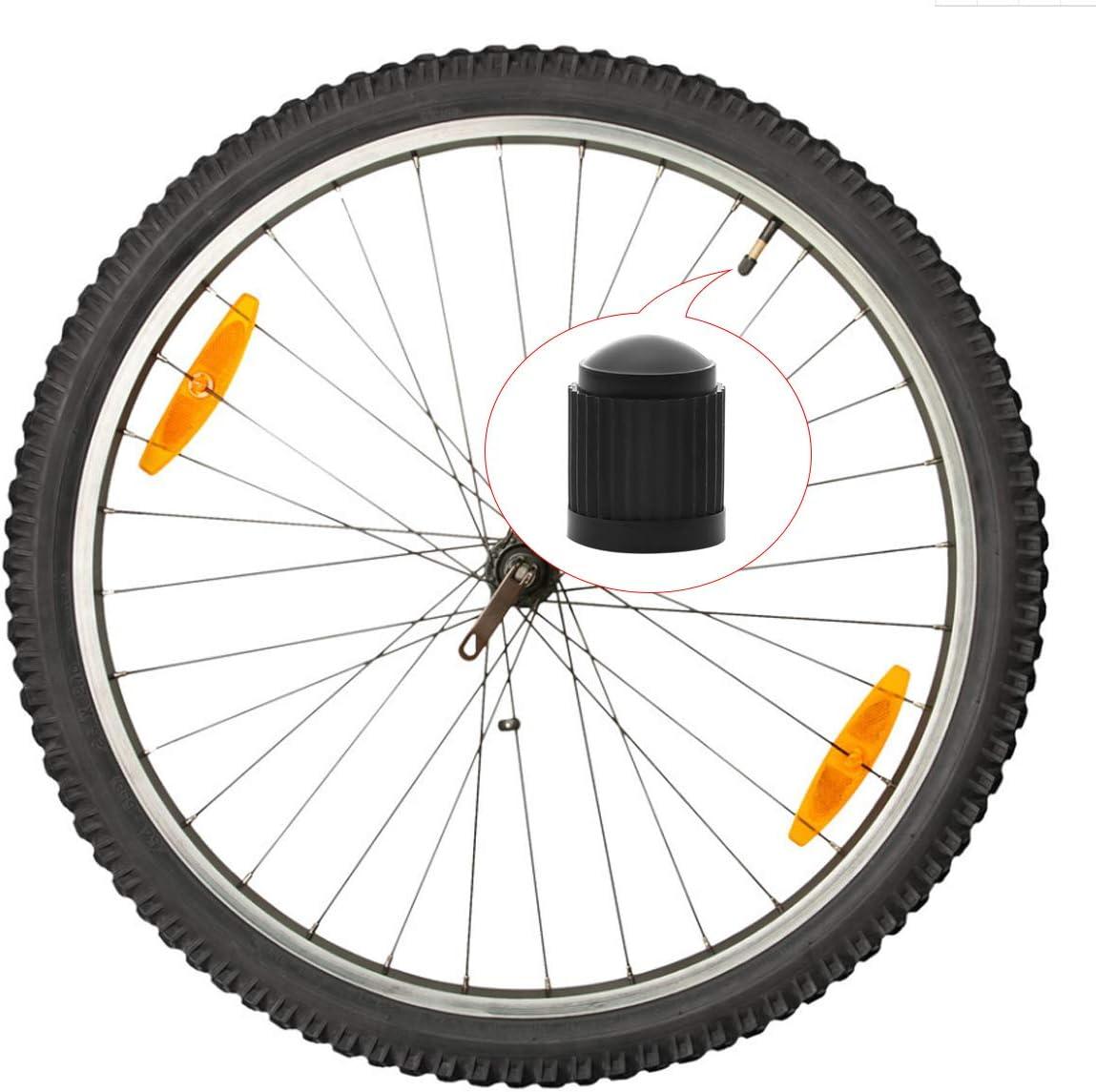 Kunststoff Auto Reifen Vorbau Staub Abdeckungen mit Dichtring f/ür SUV Natuce 8 St/ück Reifen Ventilkappen LKW Fahrrad Motorrad Schwarz