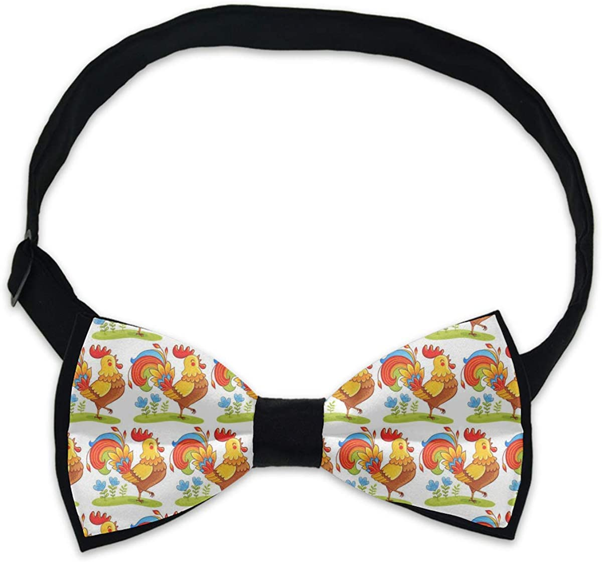 Rooster Mens Small Floral Pre-tied Bowtie