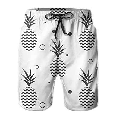 e2ef425503de5 Mens/Men's Black Pineapple Summer Beach Shorts Casual Pants Printing Quick  Dry Beach Shorts Swim Trunk at Amazon Men's Clothing store: