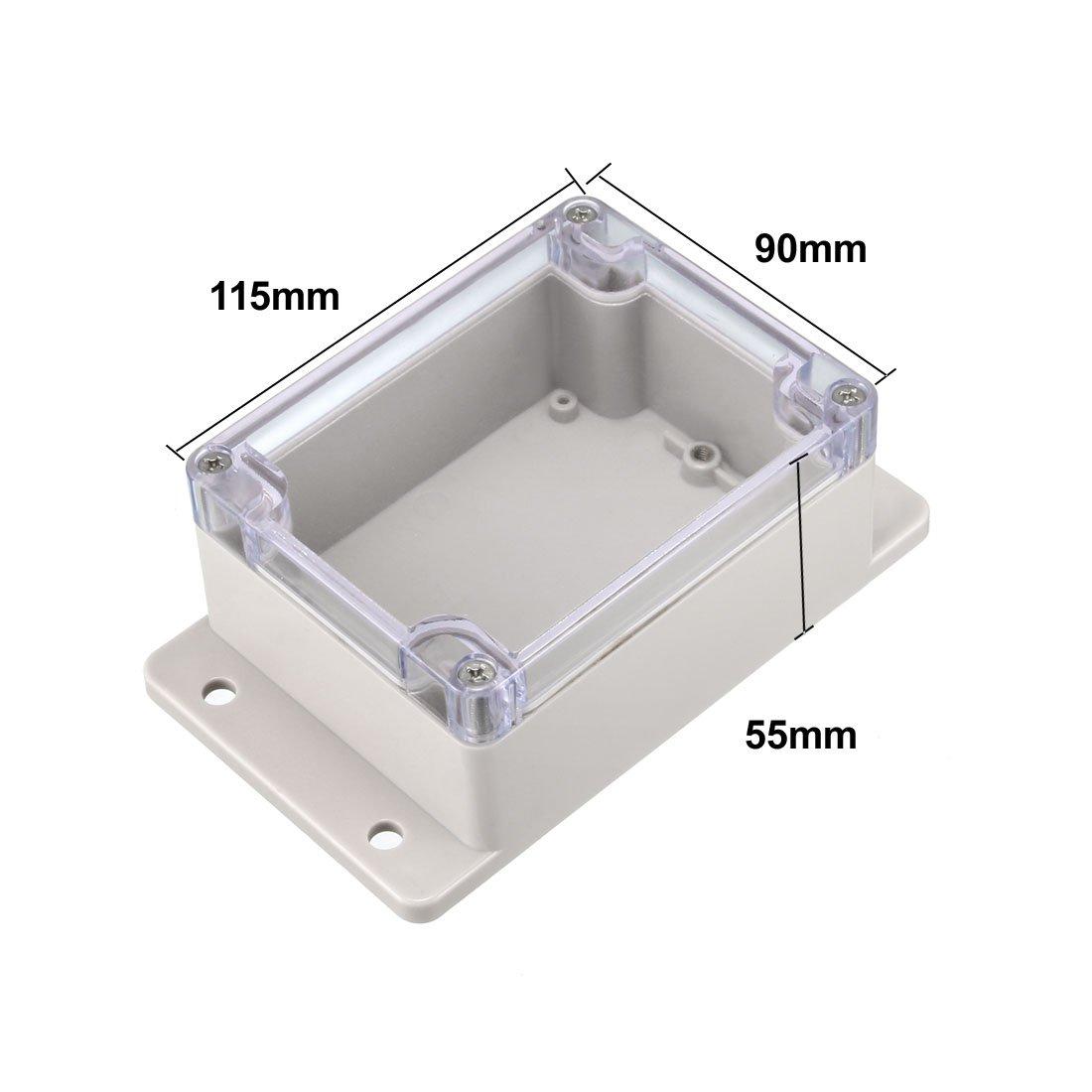 Sourcingmap color blanco 61 x 36 x 25 mm Caja de derivaci/ón electr/ónica de pl/ástico