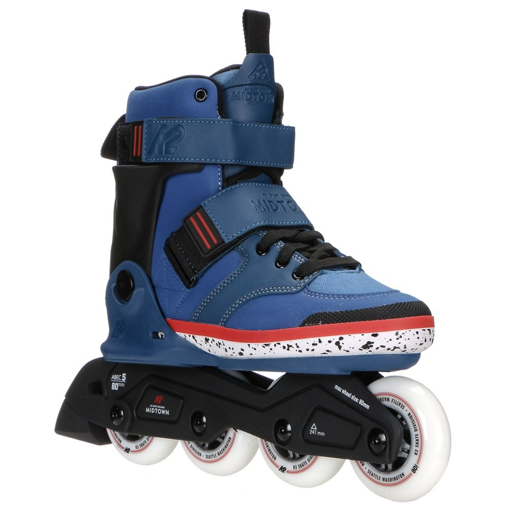 K2 Skate Midtown Inline Skates, Blue, 12.5
