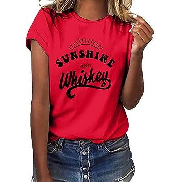 Amazon.com: Camiseta de manga corta para mujer con diseño ...