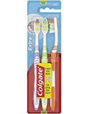 Colgate Palmolive Extra Clean Toothbrush medium 2 with 1 free, sorted