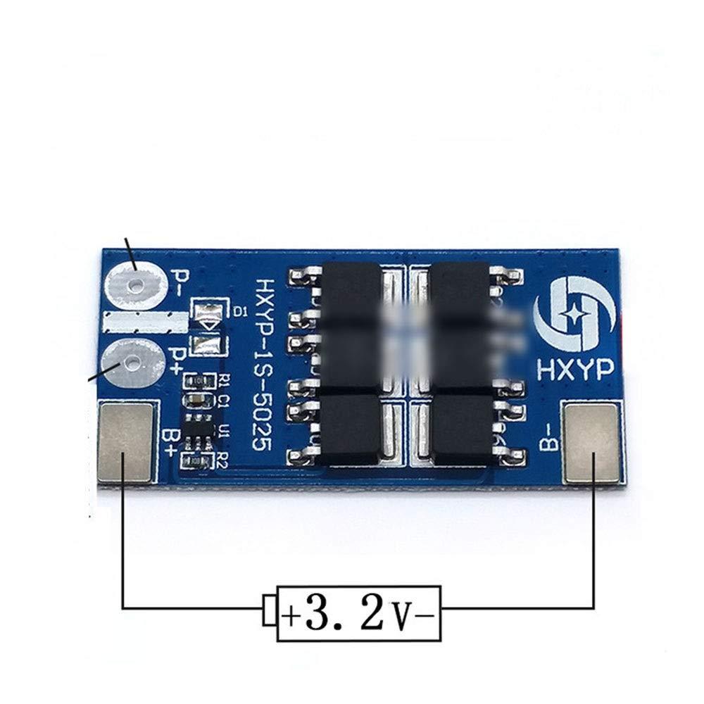 FELICIGG 1 String 3.2V Placa Protectora de fosfato de Litio y Hierro Bater/ía /única 3.7V Antirrecarga y sobrecarga Protecci/ón Junta 25A
