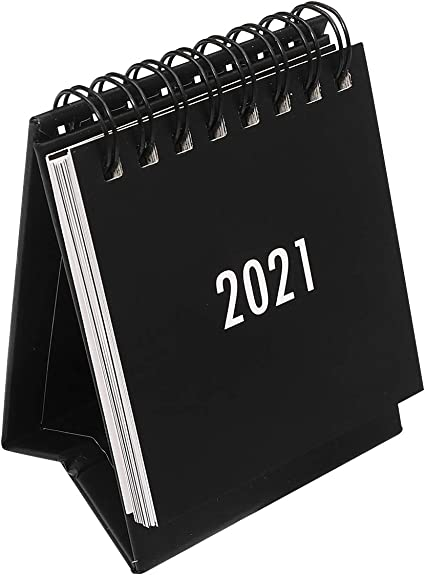 Nuobesty Calendrier de bureau 2020–2021, design simple, organiseur