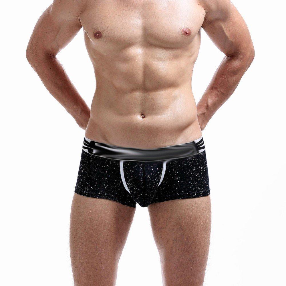 SEY Costume da Bagno - Pantaloncini da casa per Uomo Mutandine comode Dots Boxer Shorts,Nero,XL