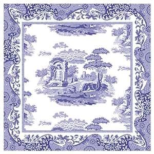 Amazon Com Spode Blue Italian Cotton Napkins Set Of 4