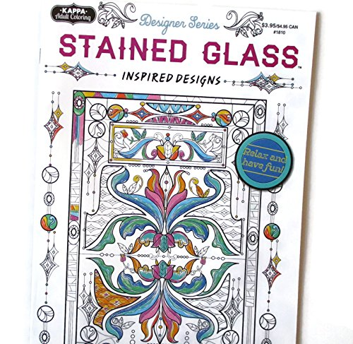 Stained Glass Coloring Book - Kappa Glasses