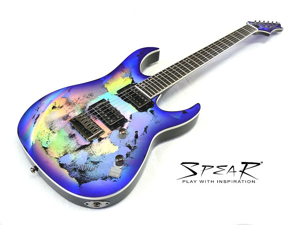 Guitarra eléctrica Spear Gladius HG Hologram: Amazon.es: Instrumentos musicales