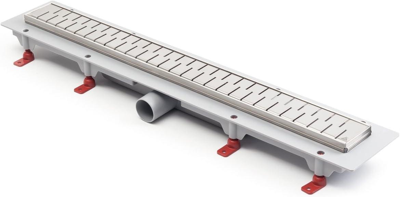 Canaleta de desagüe de acero inoxidable para ducha, 75 cm, modelo ...
