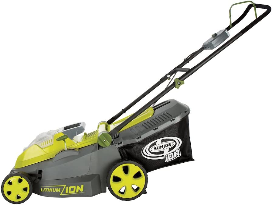 Sun Joe iON16LM Best Battery Powered Lawn Mowers Review