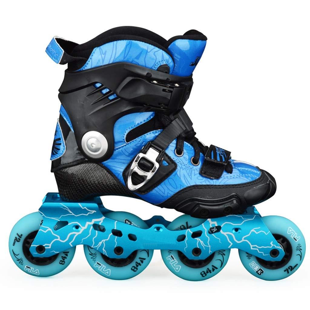 LIUXUEPING ローラースケート、 カーボンスケート、 ブレーキフラットシューズ、 男性と女性のローラーシューズ、 アダルトファンシーインラインスケート、 子供用スケート B07GKP7Q57 39 青 青 39