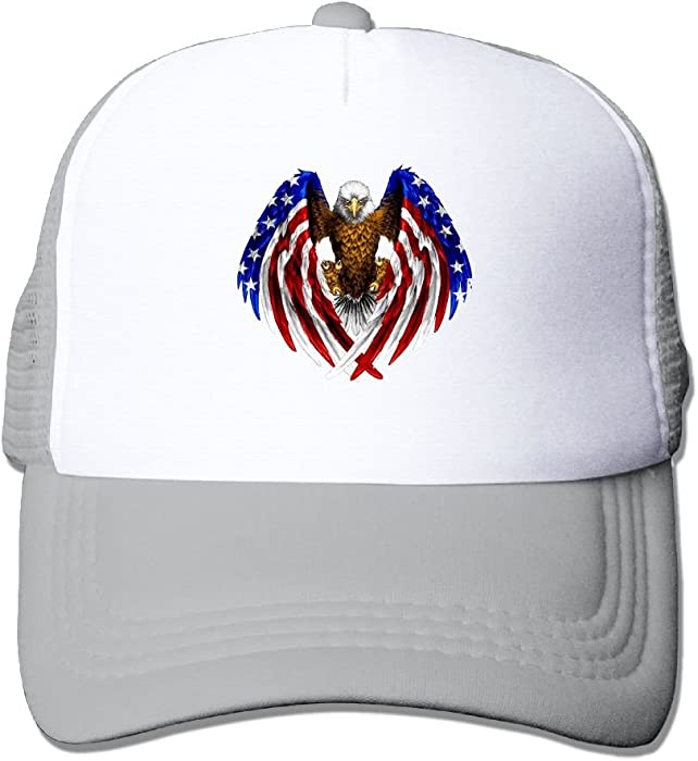 Adult Unisex Cap American Eagle Mesh Cap Dad Hat Baseball Caps Adjustable Trucker  Cap for Mens Womens 641f137bce1b
