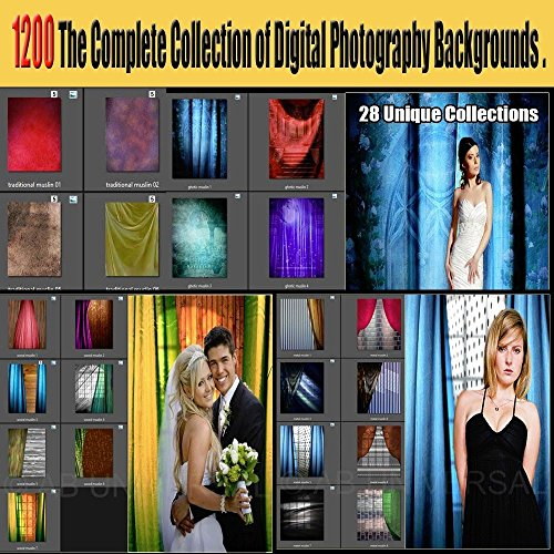 1200 Digital Backgrounds Photography Backdrops 28 Unique Collections by ABUniversal