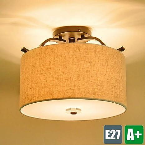 φ40 cm plástico lámpara de techo diseño E27 – Lámpara de ...