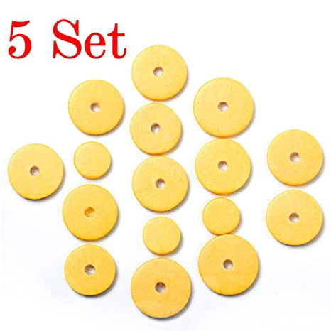Kmise 80 Pcs material de almohadillas de grado superior tono para Yamaha Flauta piezas almohadillas de