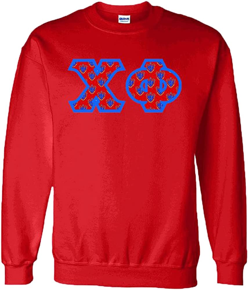 Delta Phi Fraternity Crest Twill Letter Hooded Sweatshirt