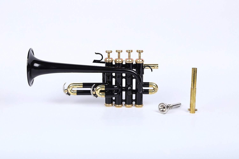 SCEXPORTS PiTr-H2, Piccolo Trumpet, Bb, Black by SCEXPORTS