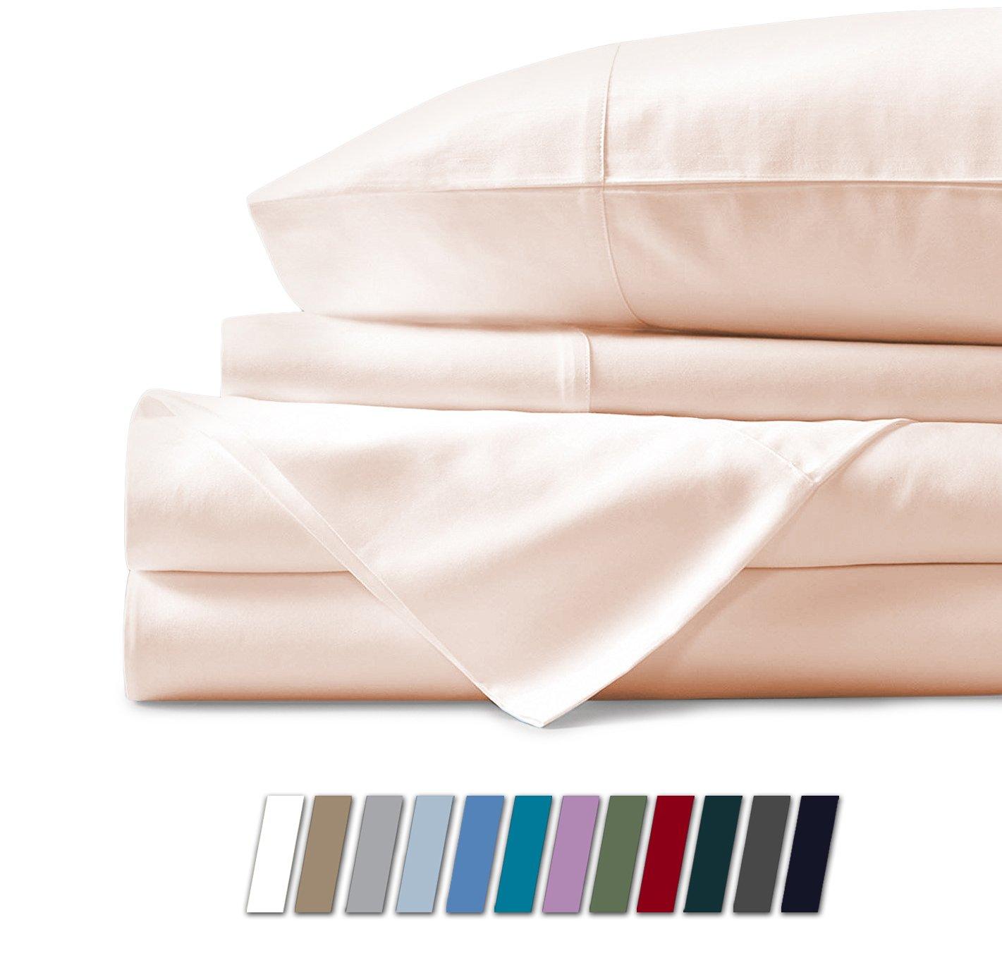 Mayfair Linen 100% Egyptian Cotton Sheets, Ivory
