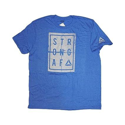 fb0818dc Amazon.com: Reebok Men's Crossfit Strong AF T-Shirt (Blue) BI0195 ...