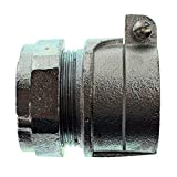 OZ-Gedney 9125-W Combo Conduit Coupling, EMT to Flex, Mallable Iron, 1-1/4-Inch (5-Pack)