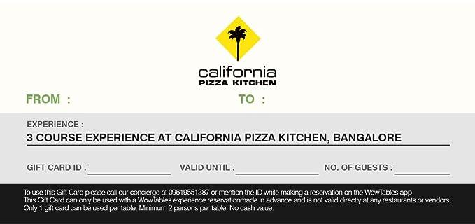 California Pizza Kitchen Bangalore Gift Card Rs 1561