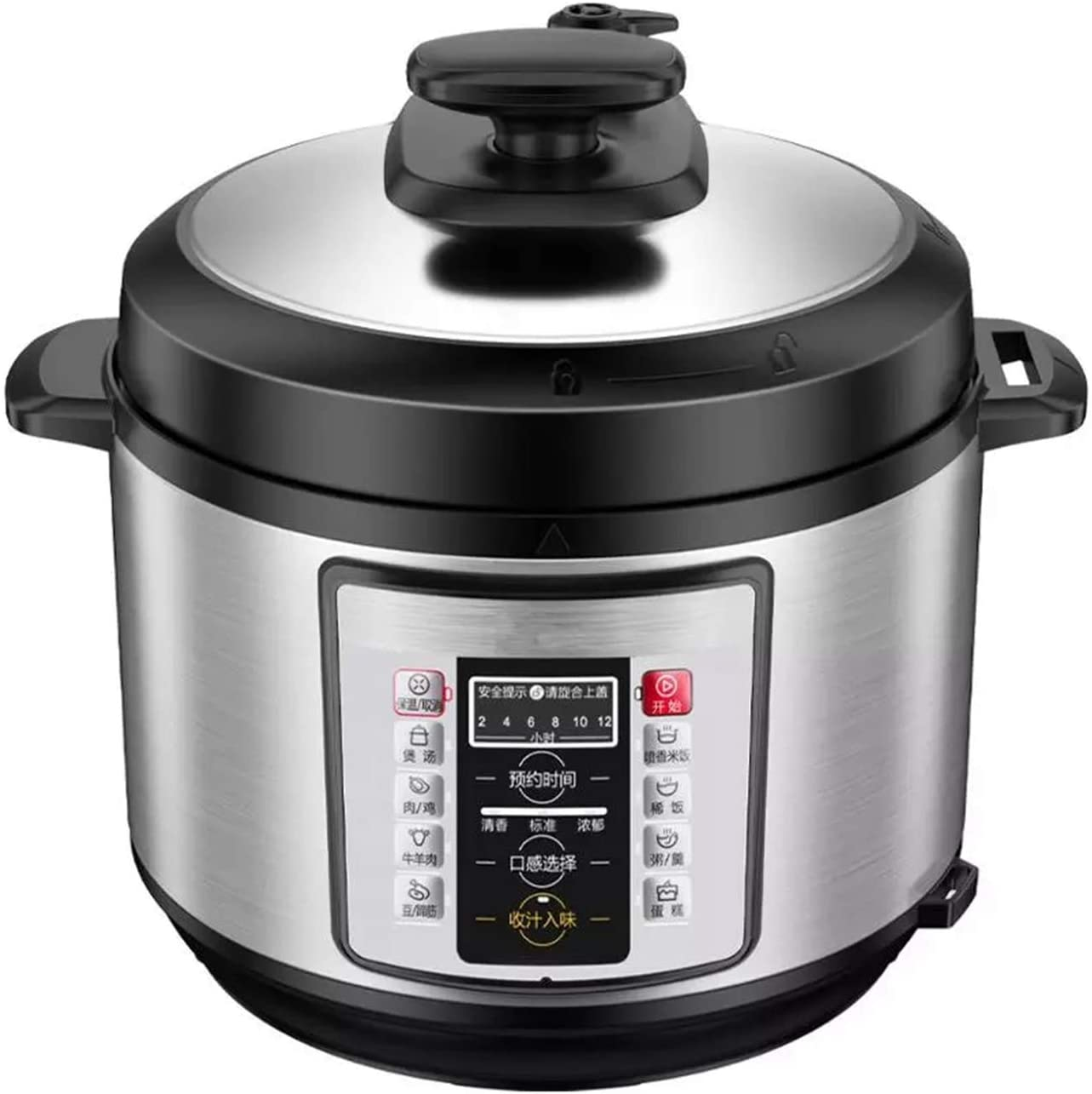 8-in-1 Electric Pressure Cooker Instant Stainless Steel Pot, Slow Cooker, Steamer, Saute, Warmer, Rice Cooker, 5L