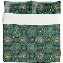 Planetas Duvet Bed Set 3 Piece Set Duvet Cover - 2 Pillow Shams - Luxury Microfiber, Soft, Breathable