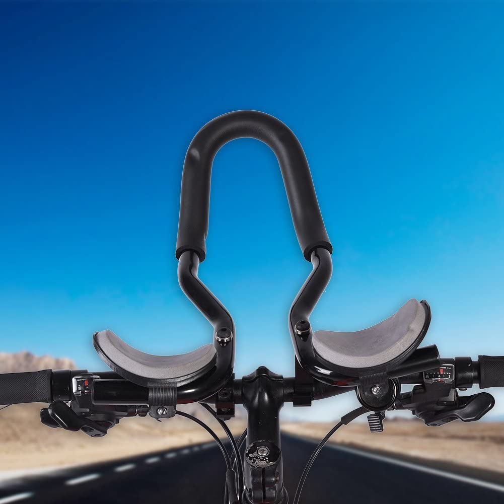 Dilwe Bicycle Aero Bars 25.4 mm Aluminum Alloy Rest Handlebar for Mountain Bike Long Distance Travel