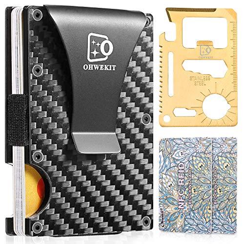 Carbon Fiber Slim Wallet | RFID Minimalist Wallet | Carbon Fiber Money Clip | Credit Card Holder Wallet for Men and Women | Fiber Wallets | Slim Wallet | Cash Money Clip | 2020 Version