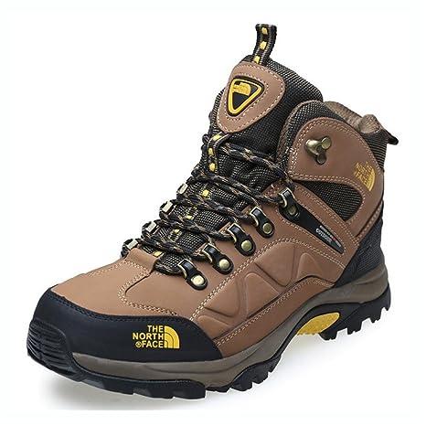 Zapatillas para hombre de cuero genuino para Zapatos de trekking para exteriores de alta montaña Otoño