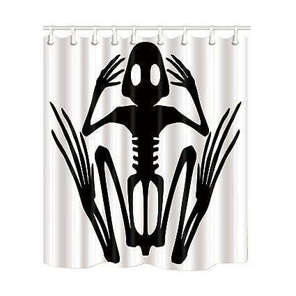 KOTOM Halloween Cortinas de Ducha, Ilustración Detallada y precisa ...