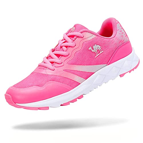 63707fca58d97 CAMEL CROWN Women's Lightweight Athletic Breathable Mesh Sneakers Sport  Running Shoes Color Hot Pink Size 6