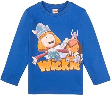 WICKIE niños T-Shirt, Camisa, Azul