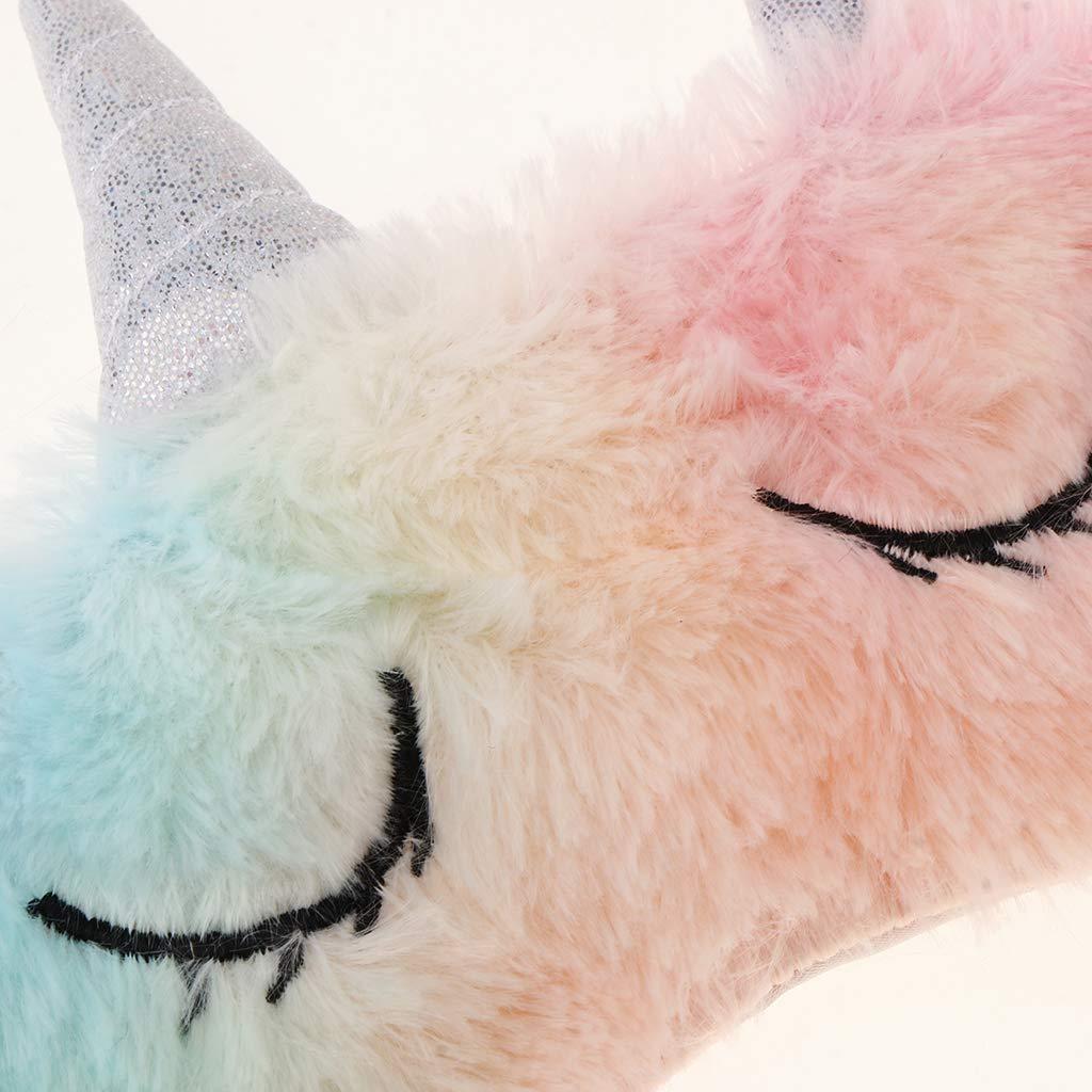 NON Sharplace M/áscara de Ojos Antifaz de Dormir Patr/ón de Unicornio Regalo de Fiesta para Mujer Chica