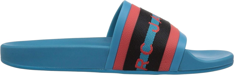 Marc Jacobs Womens Cooper Webbing Aqua Slide Sandal