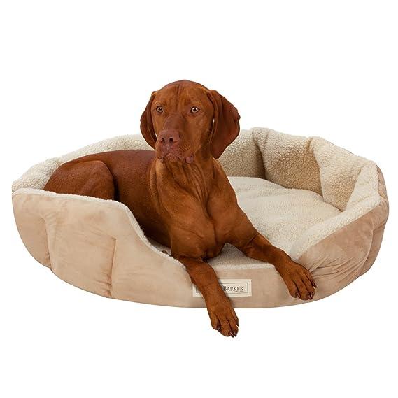 Ruff & Barker - Cama Ovalada para Natural - Nido de perro grande camas para perros 95 cm x 85 cm x 21 cm: Amazon.es: Productos para mascotas