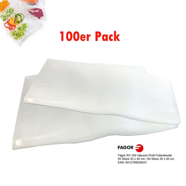 50er Pack Vakuumfolie mit Struktur 25cm x 25cm Profi-Qualität Vakuumbeutel