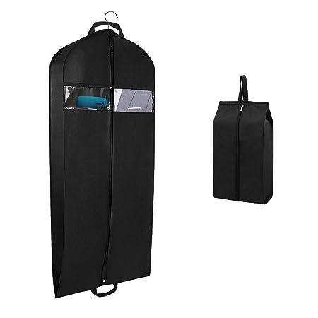 Syeeiex Bolsa de ropa para viajes y almacenamiento Bolsa de fundas portadoras de traje transpirable con asas de transporte Refuerzo y una bolsa de ...