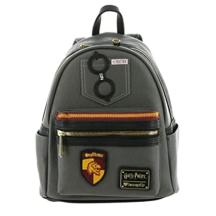 4a3bd5d1e653 Amazon.com: Loungefly Harry Potter Gryffindor Faux Leather Mini ...